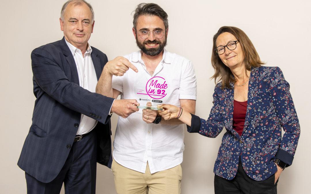 Le bâtonnier Michel Guichard a remis le Prix Challenge de l'innovation du concours Made In 92